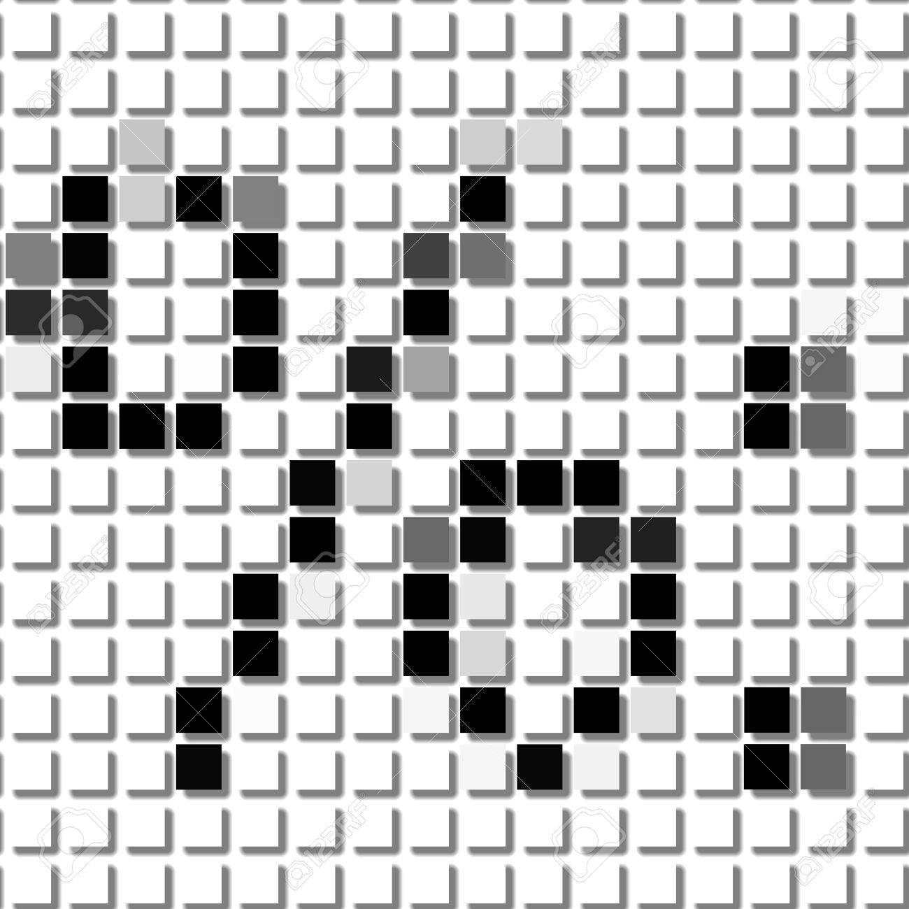 Porcentaje, Punto Duble. El Patrón Geométrica Simple De Cuadrados ...