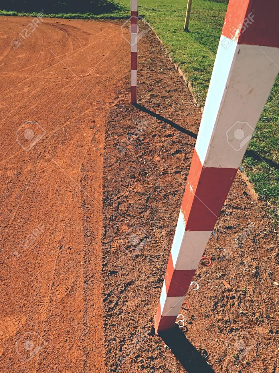 Detail Der Torrahmen. Outdoor-Fußball Oder Handball Spielplatz ...
