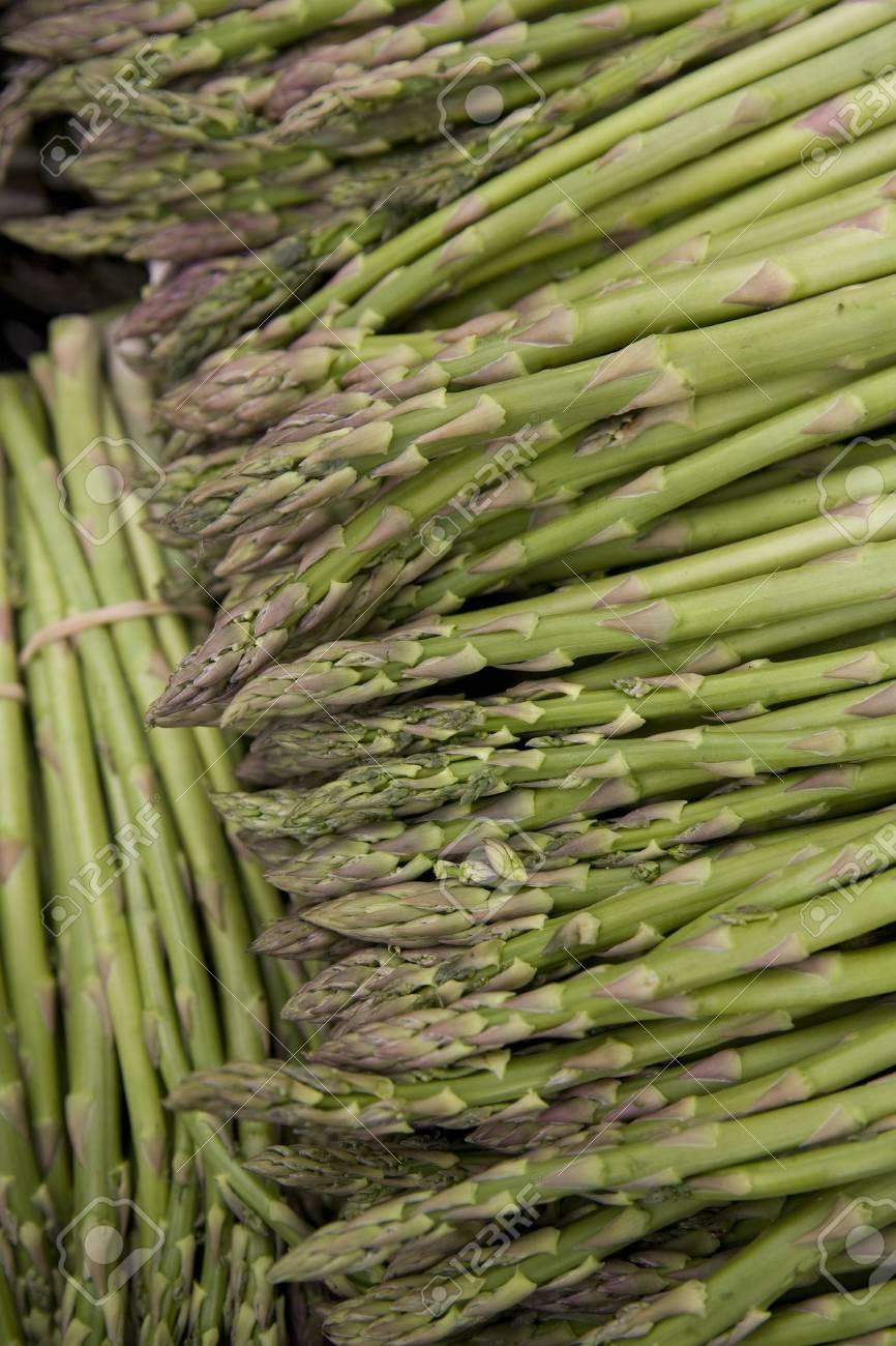 Fresh, organic, locally grown asparagus spears Stock Photo - 3373937