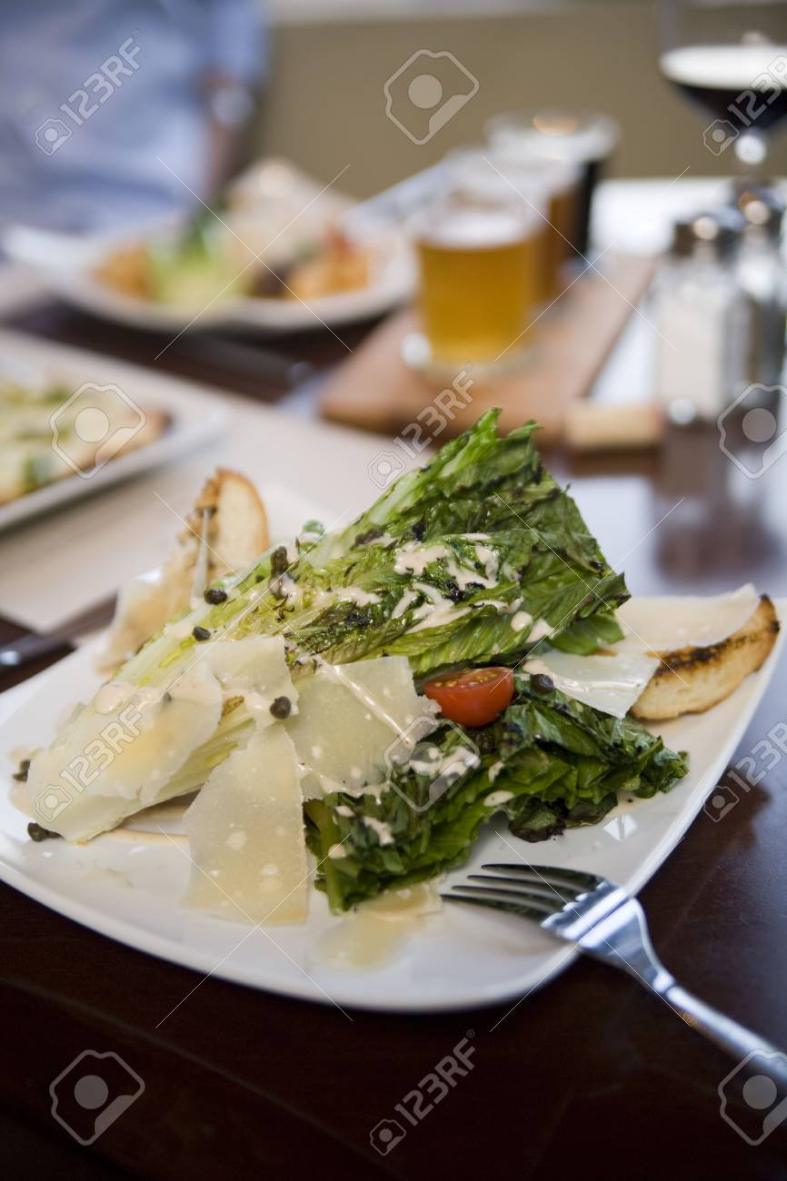 Hearts of romaine salad at a cafe Stock Photo - 6183056