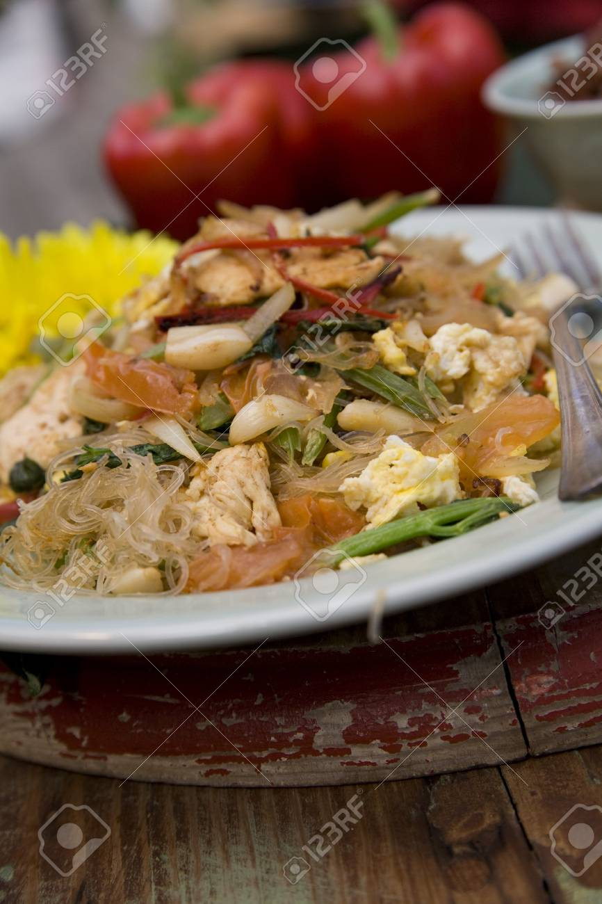 Thai food delicacies presented in traditional settings Stock Photo - 7921125