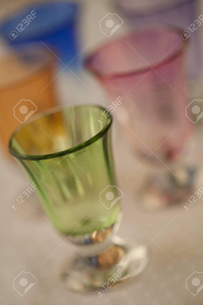 Colorful handblown glasses Stock Photo - 12421237
