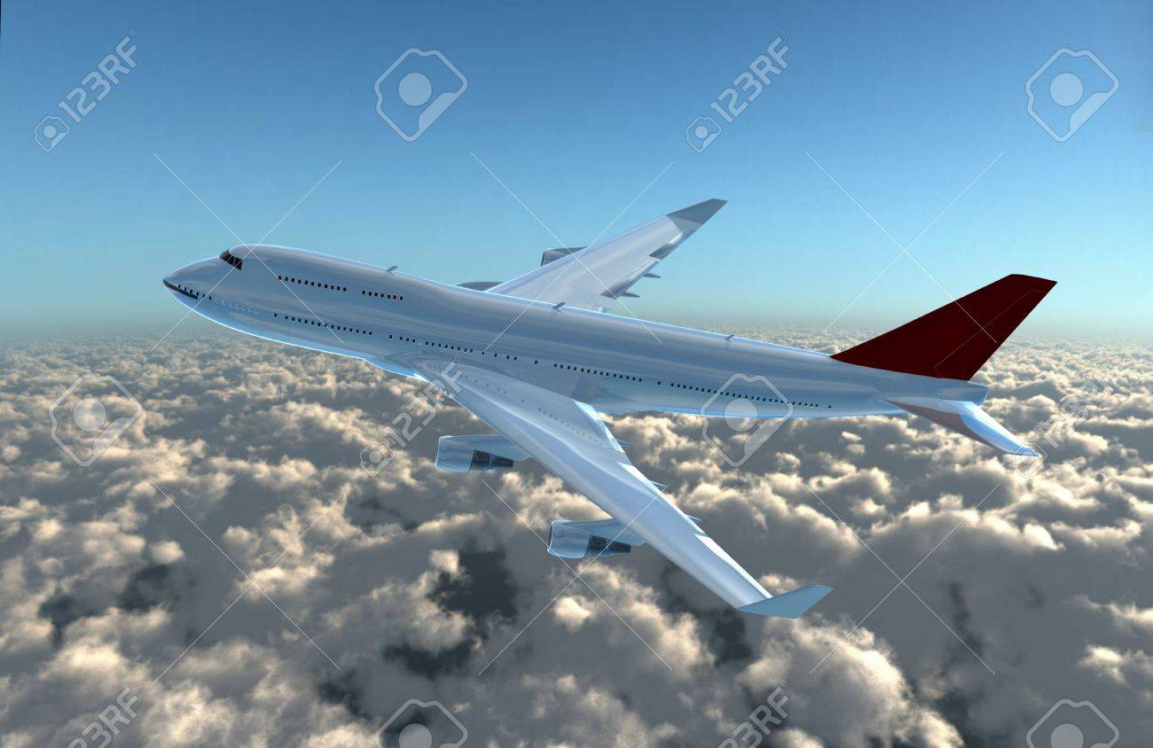 a airplane flying in the sky, provide a travel and airline services concept. Stock Photo - 11193831