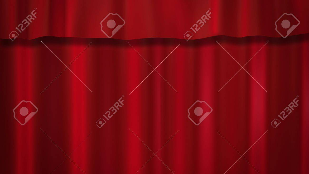 red curtains background for the theatre Stock Photo - 12403517