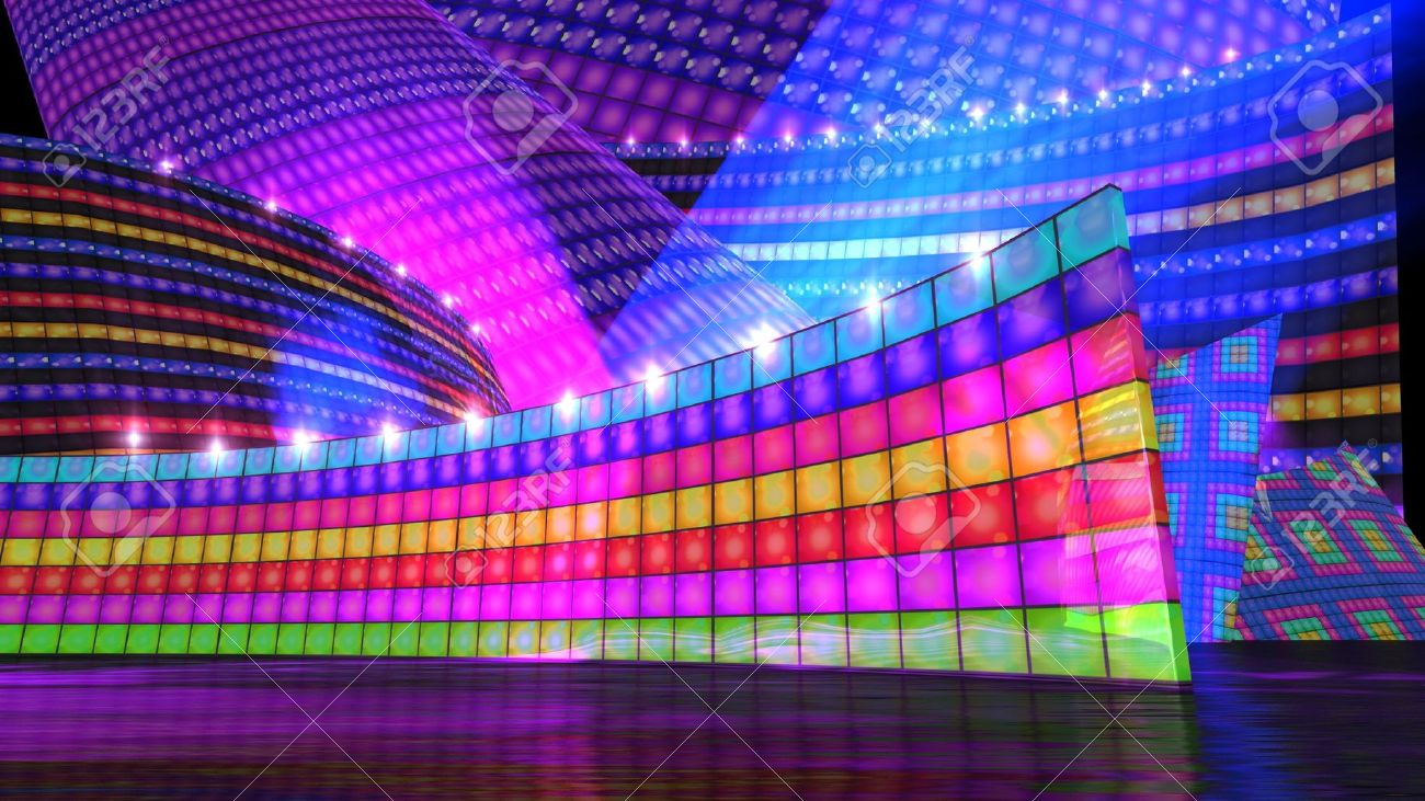 The disco stage     Dance Dance Stage Backgrounds