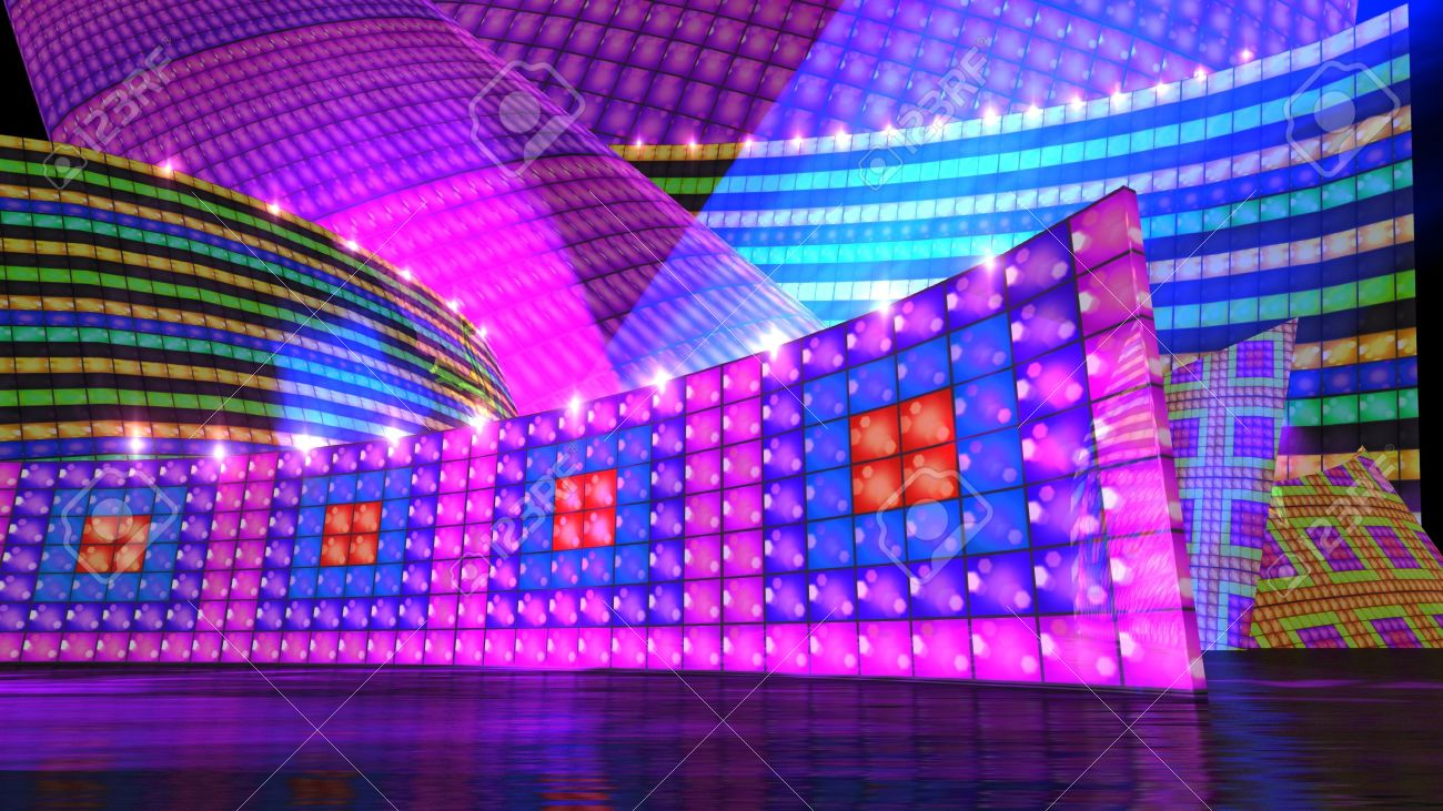 The disco stage background for virtual set Stock Photo - 12403821