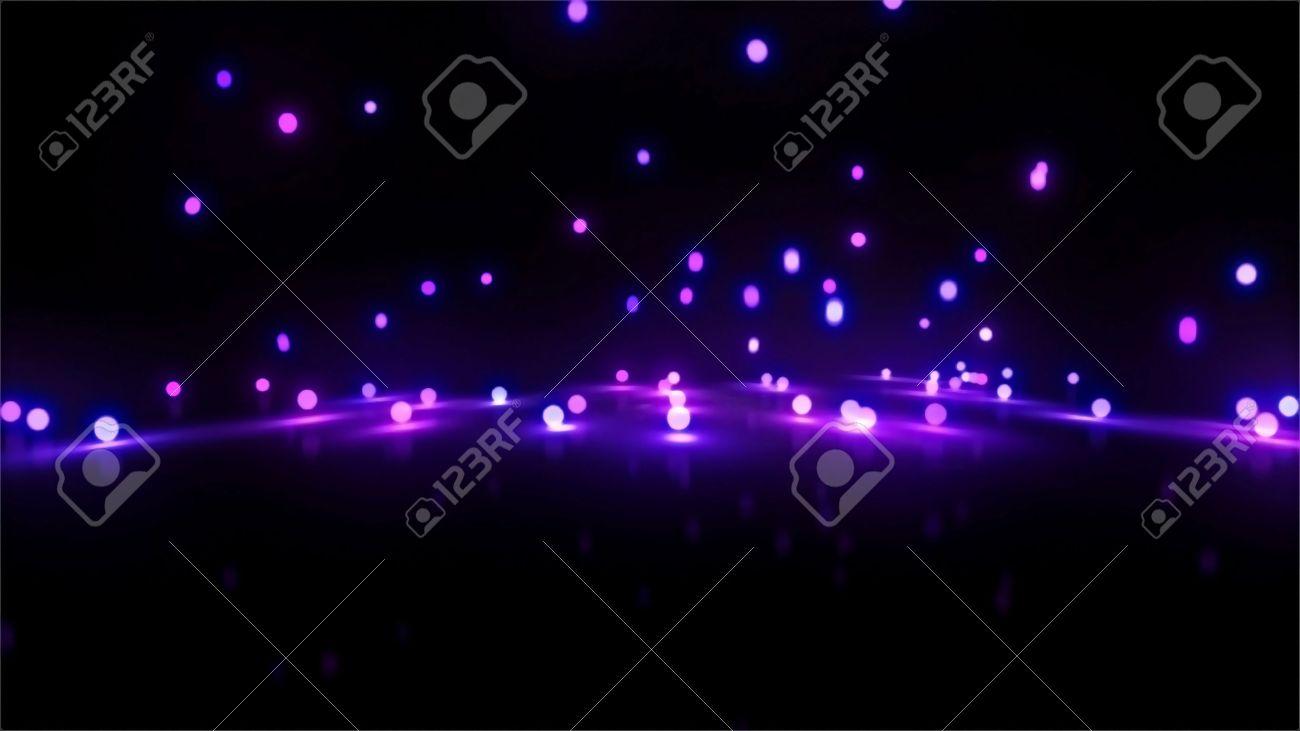 3d still rendering of bouncing light balls background - 13628189