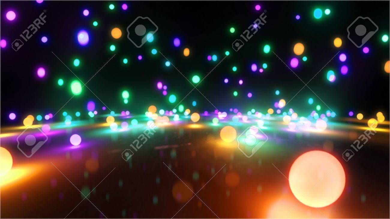 Bouncing light balls background - 20678771
