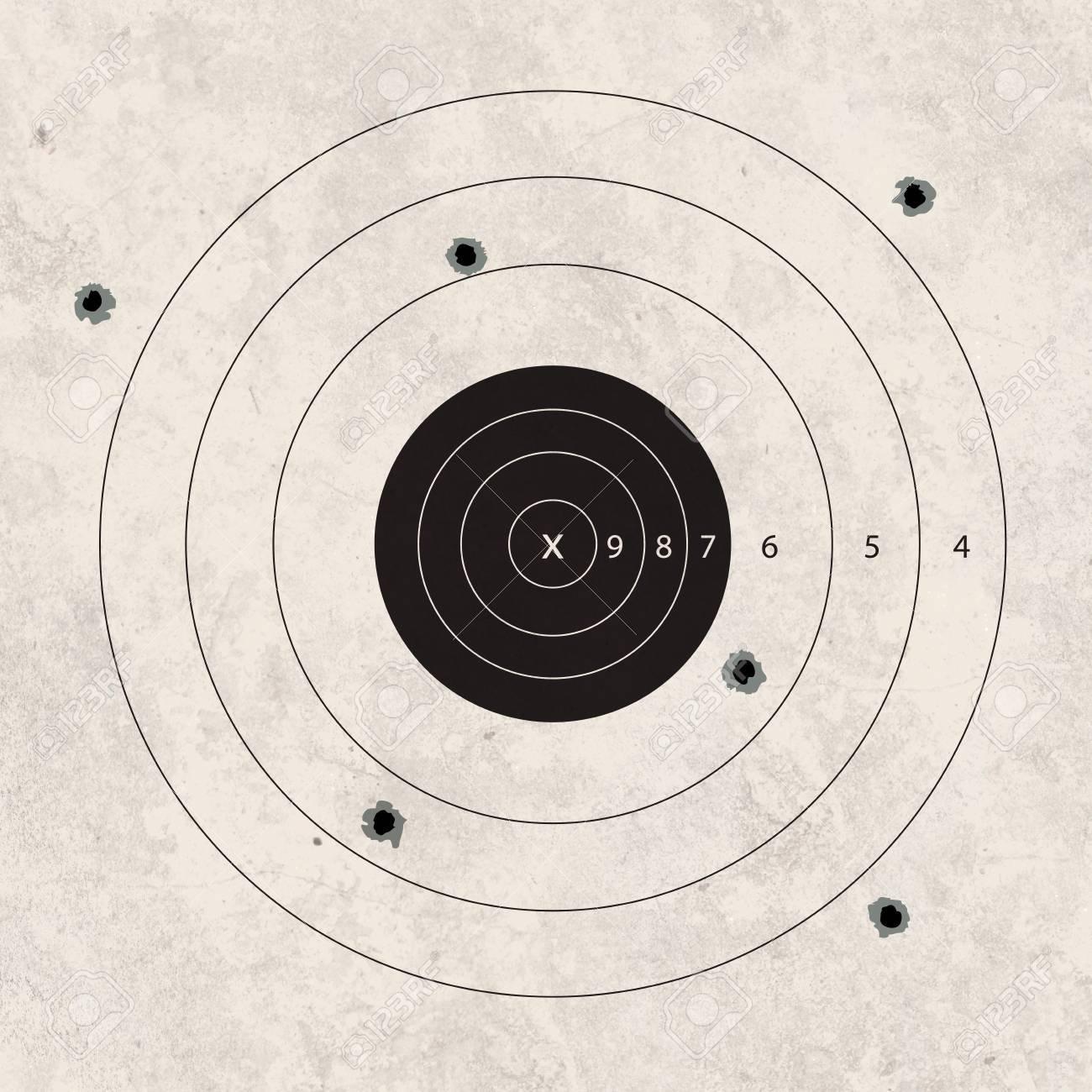 gun shoot to the shooting target concept - 21940978