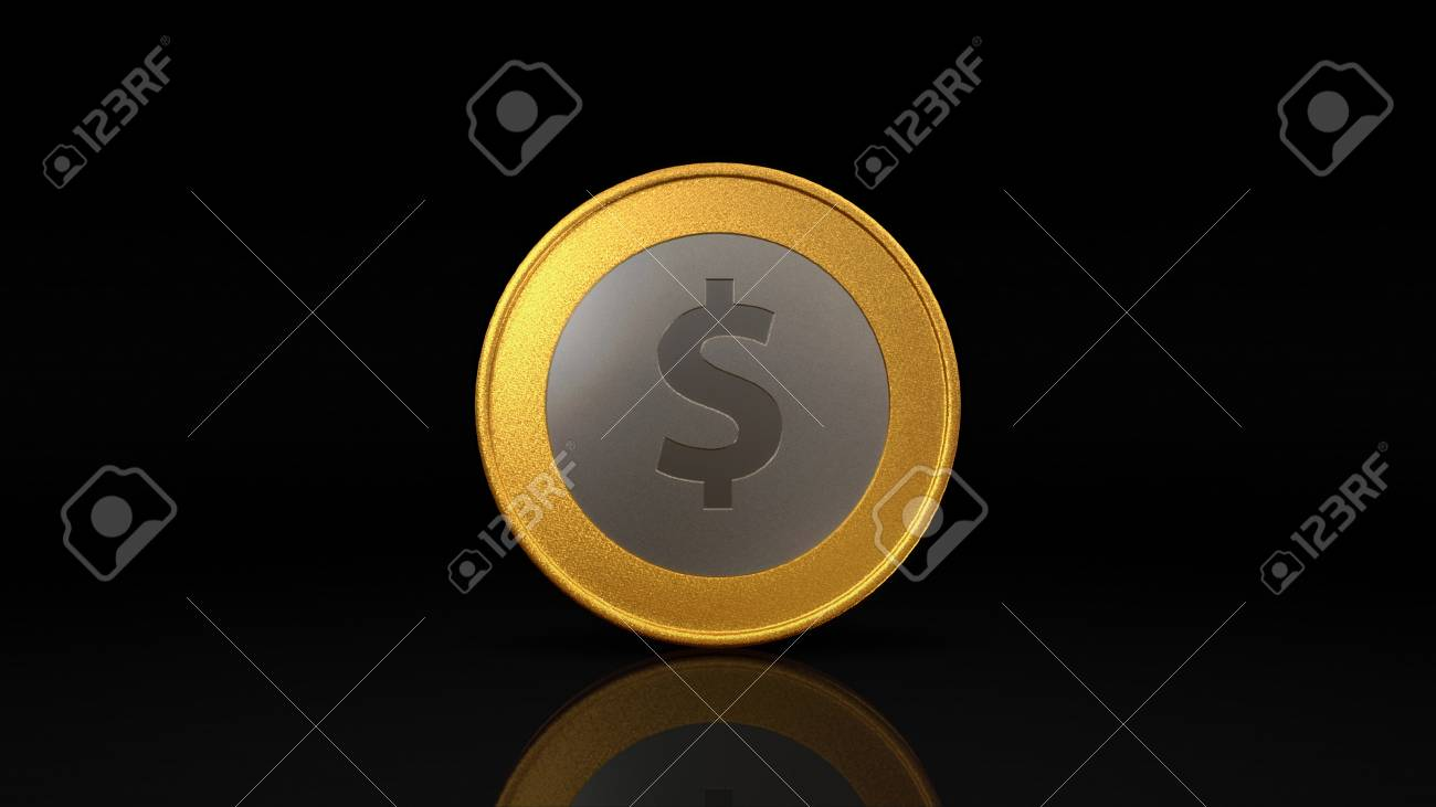The digital currency coin of peer-to-peer for capital transaction Stock Photo - 27780395
