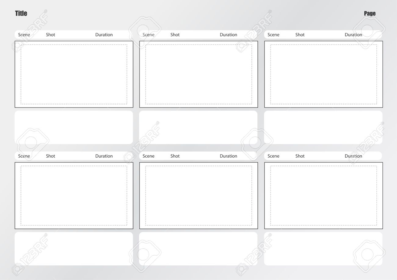 Professional of film storyboard template for easy to present the process of story. - 31462870