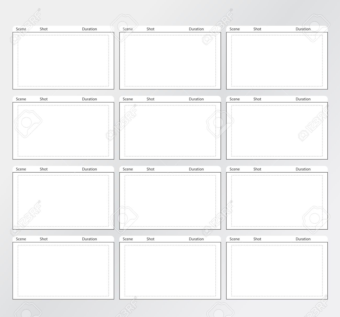 Professional Of Film Storyboard Template Royalty Free Cliparts