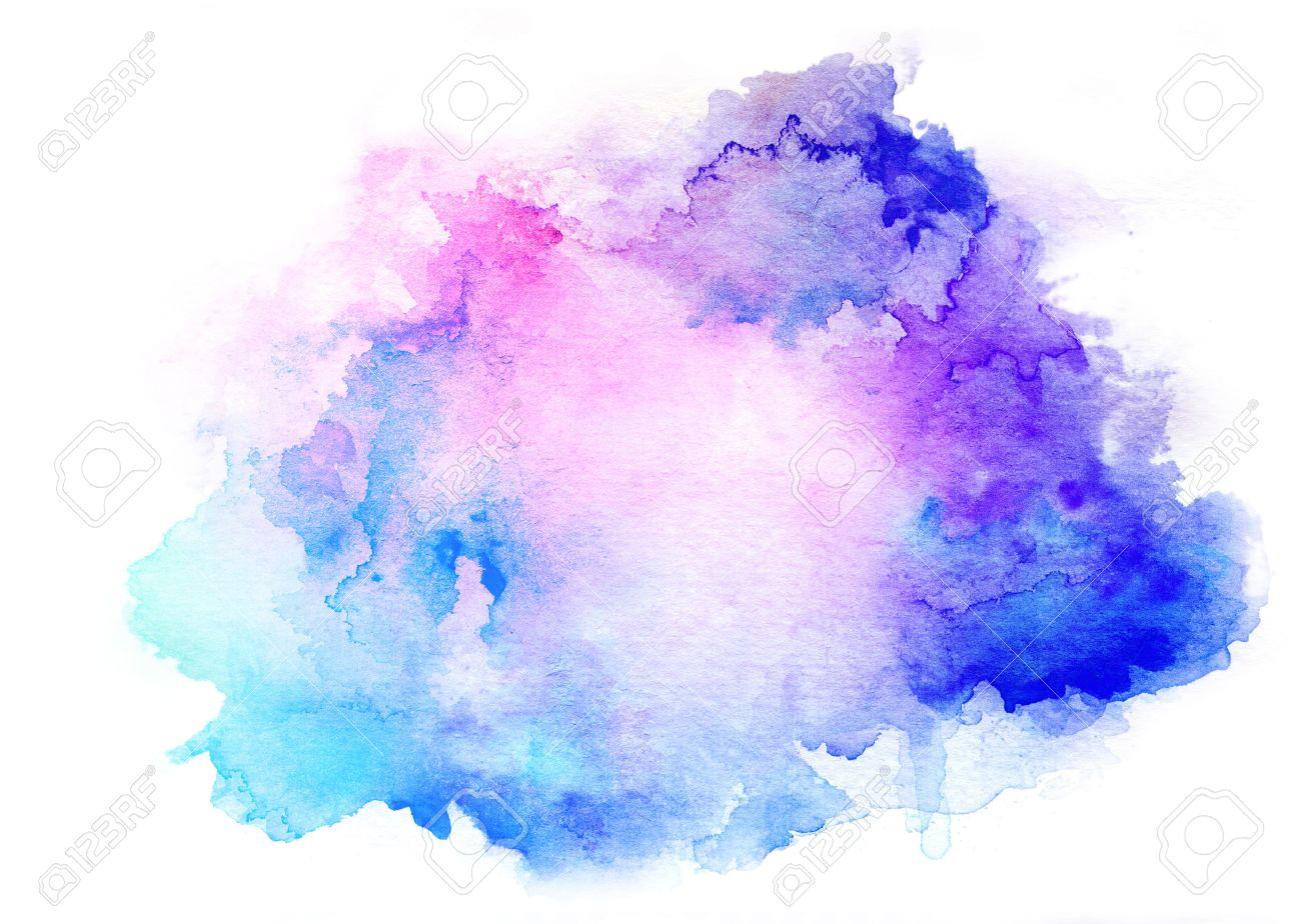 colorful watercolor drawing for use in artistic background stock