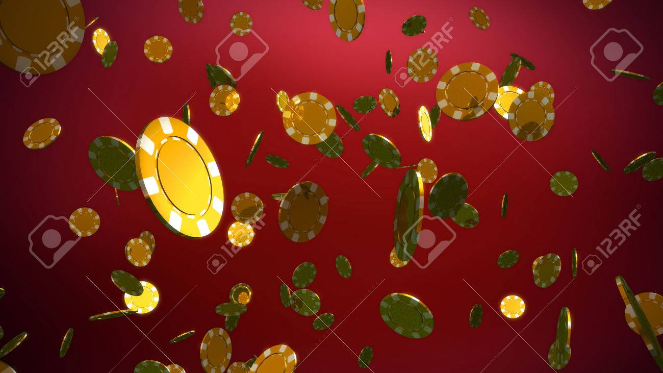 The 3d rendering of many casino chips falling - 39329829