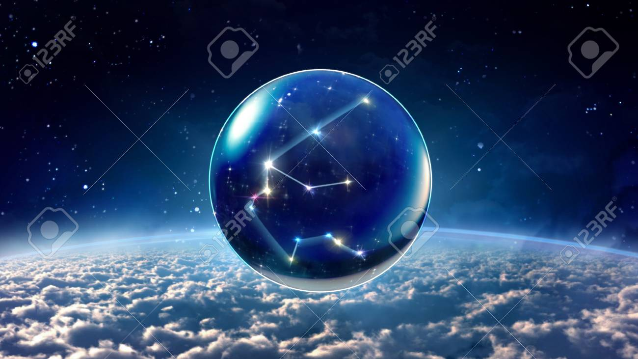 starry night star crystal ball of Horoscopes and Zodiac Signs - 47107239