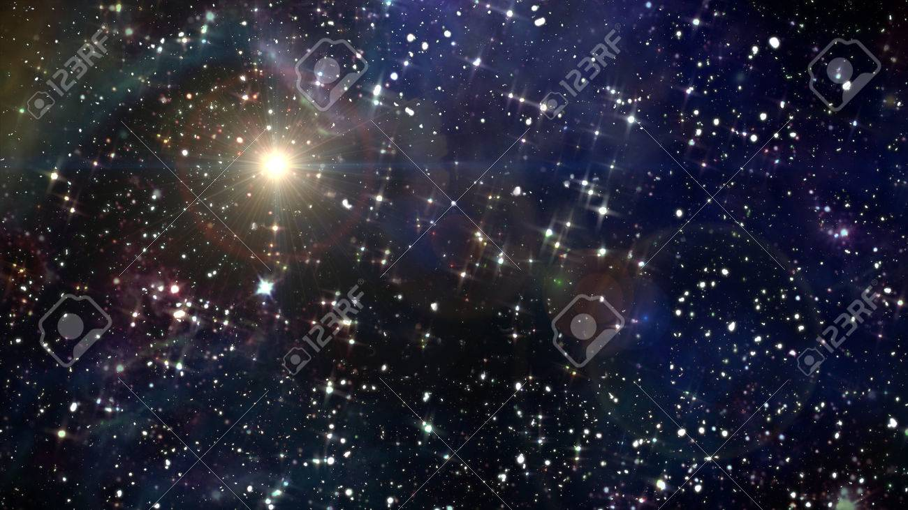 beauty night sky with star background in space - 48799935