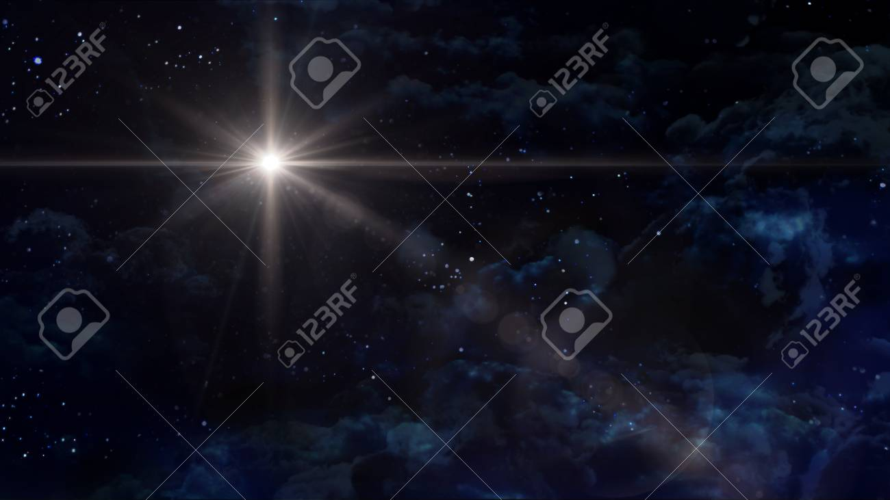 the night sky with star background - 48799970