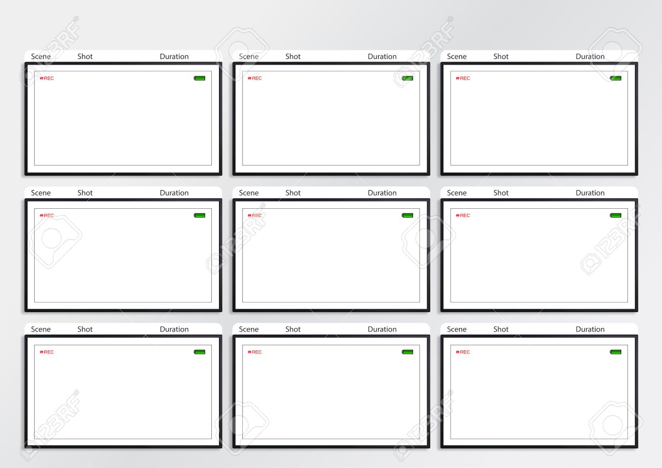 professional of film storyboard template for easy to present professional of film storyboard template for easy to present the process of story stock photo