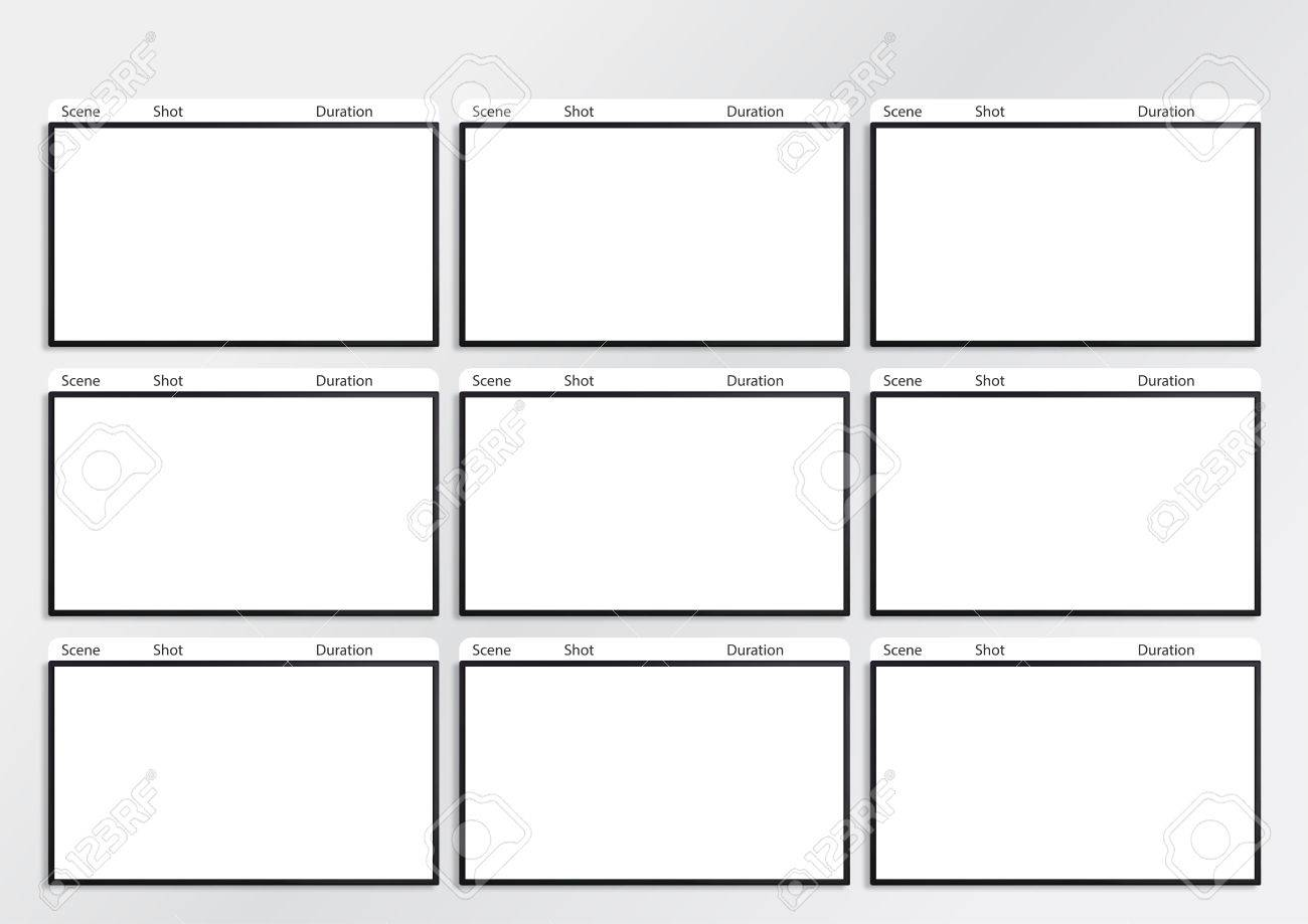 Professional Of Film Storyboard Template For Easy To Present.. Stock ...