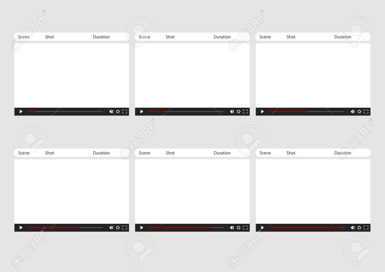 Professional Of Online Video Player HD 1920 X 1080 169 Storyboard Template Is Convenience