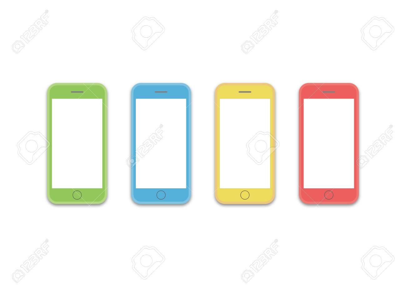 Bunte Stilbild-HD-Vorlage Handy Ist Bequemlichkeit Die Handlung An ...