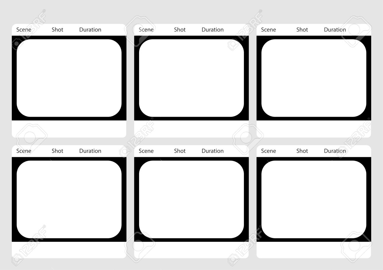 Professional Of Traditional Tv 4:3 Ntsc And Pal Storyboard Template ...