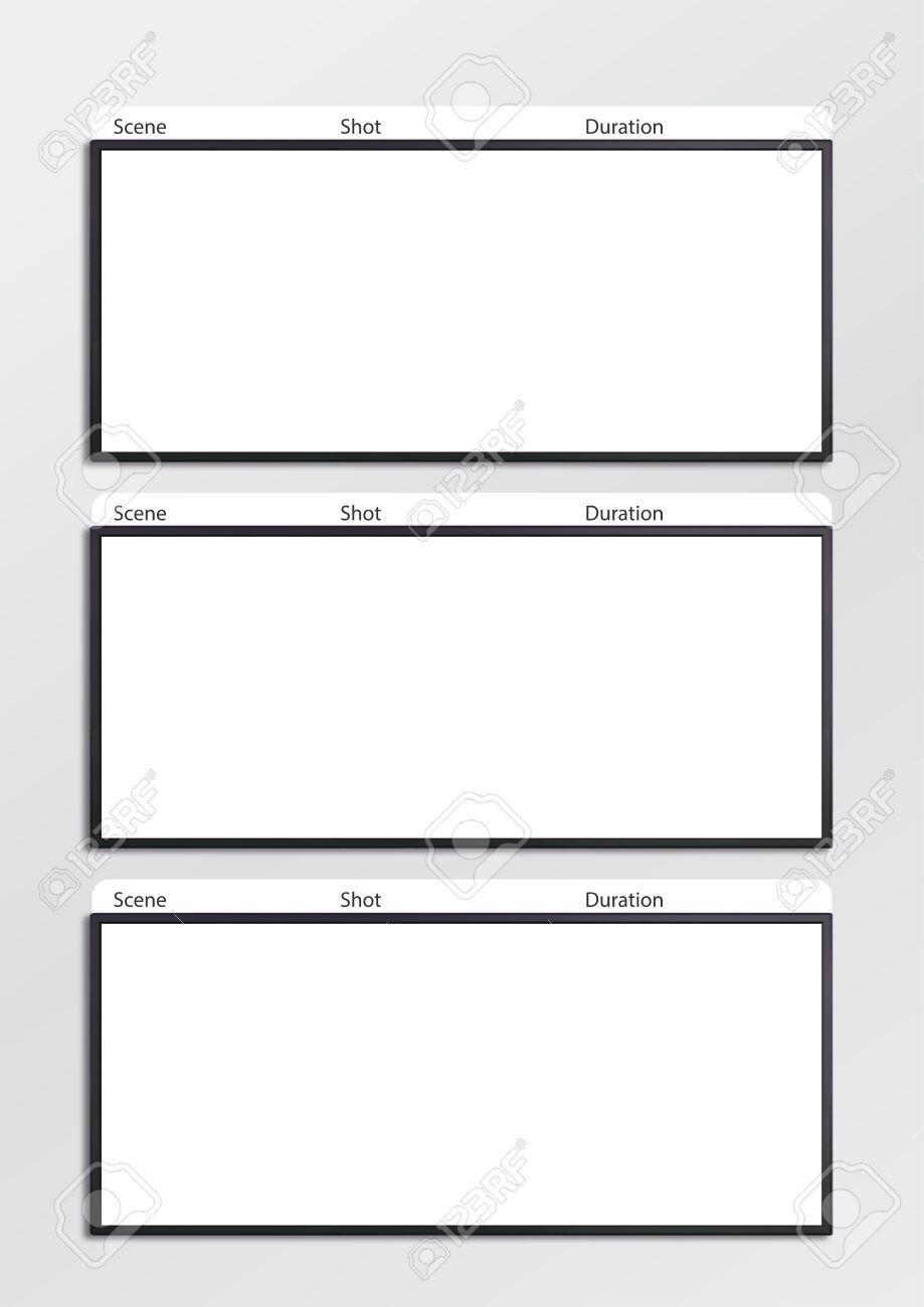 Professionelle Storyboard-Vorlage Film Maßstab Für Einfach, Den ...