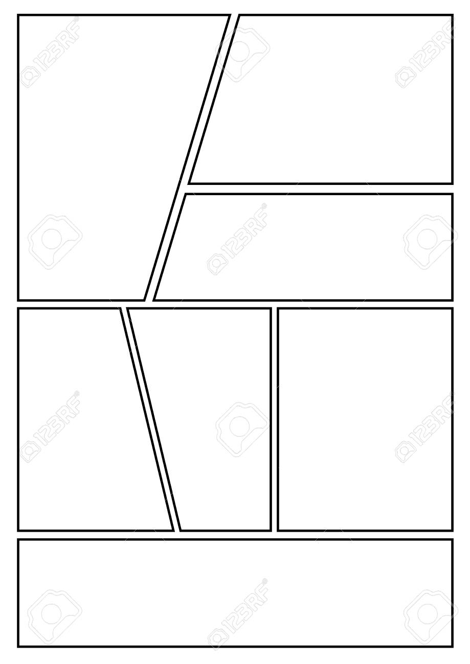Manga Storyboard Layout Template For Rapidly Create The Comic ...