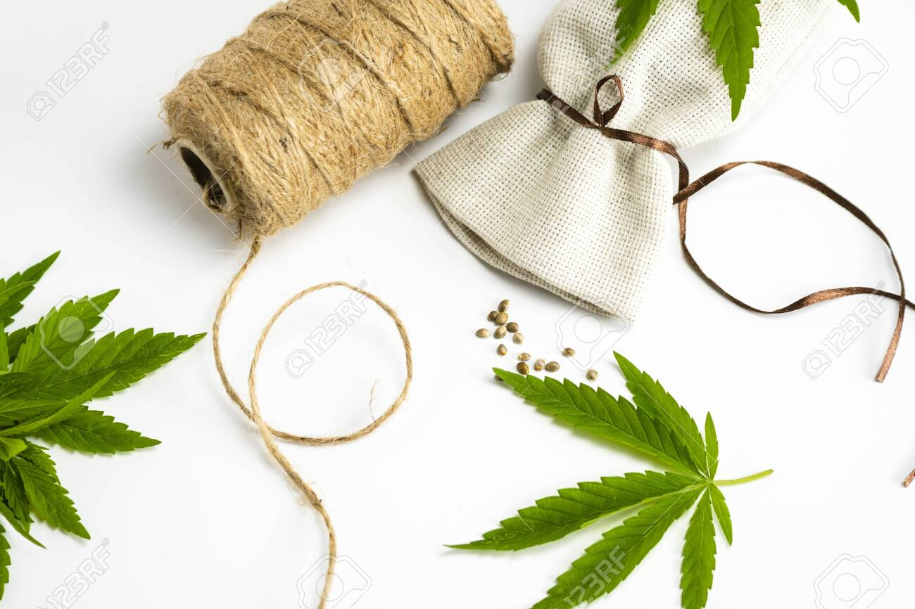 Hemp Thread Medical Marijuana Leaves And Seeds Close Up Using Stock Photo Picture And Royalty Free Image Image 148103723