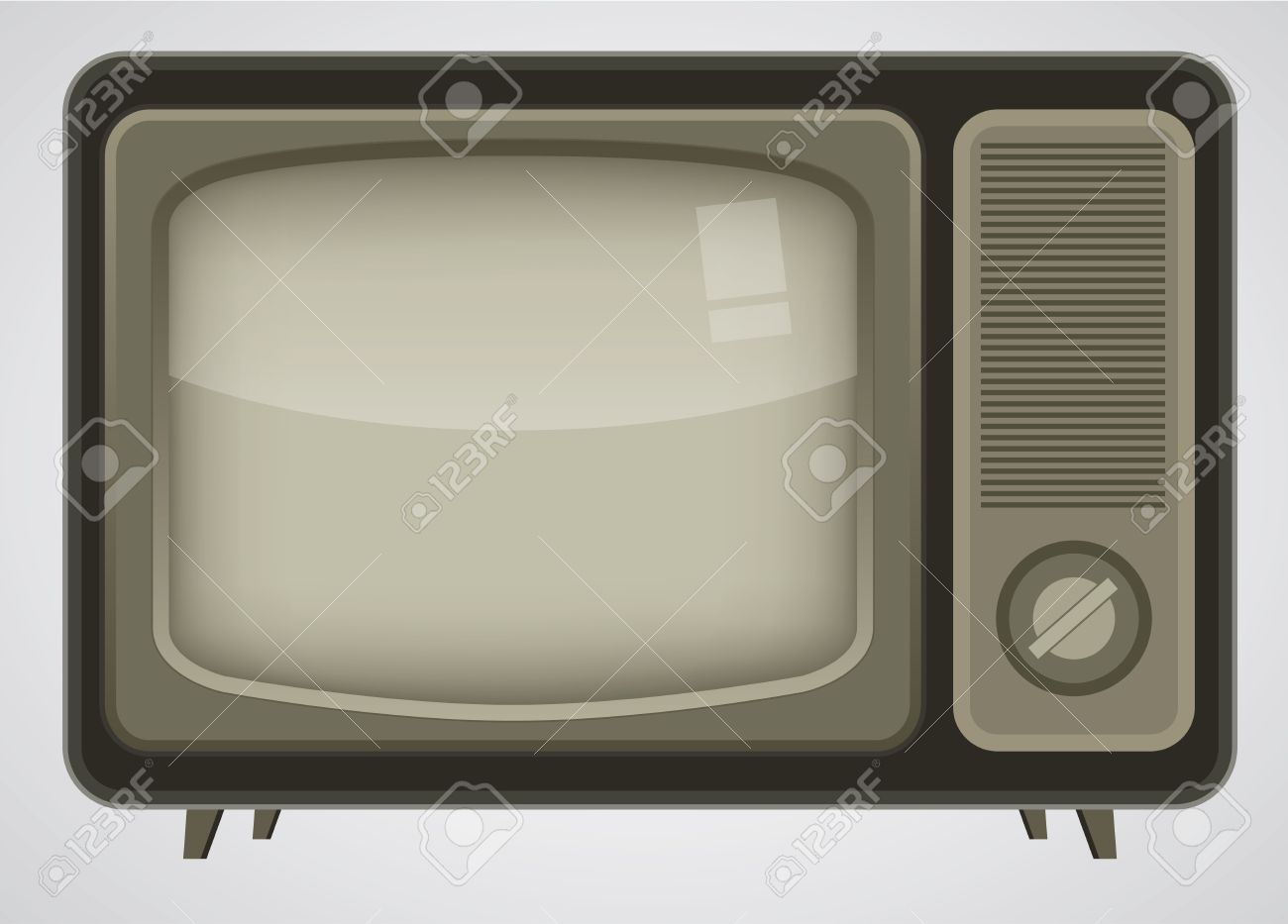 Retro TV illustration Stock Vector - 8547886