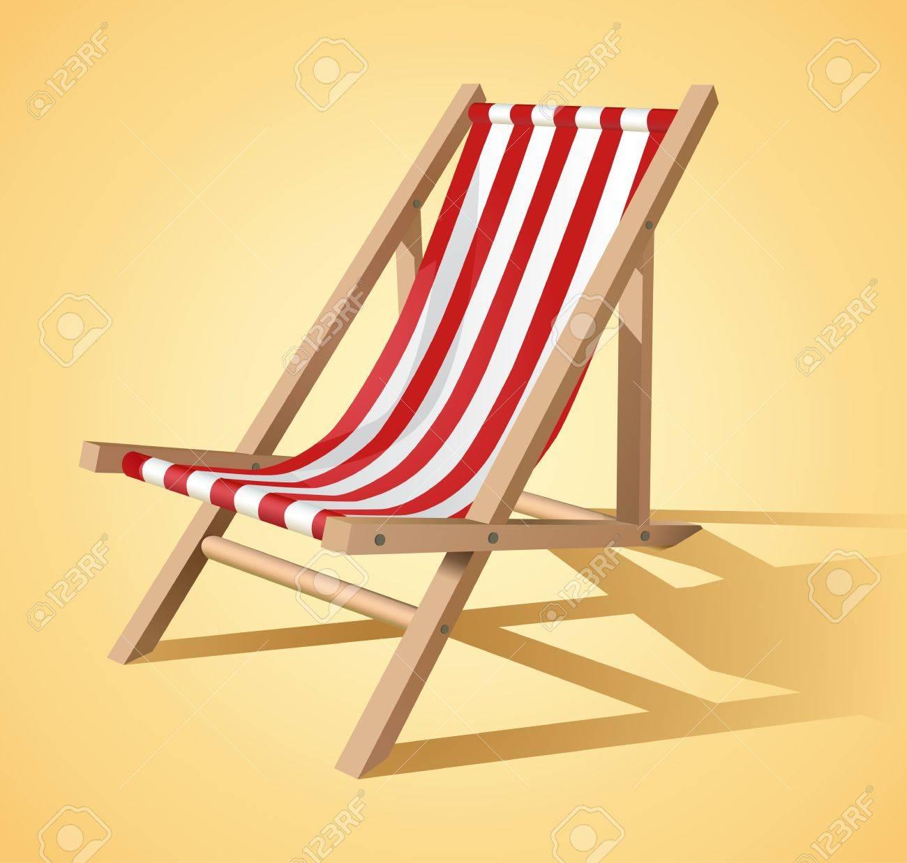 Beach chair vector - 9264266