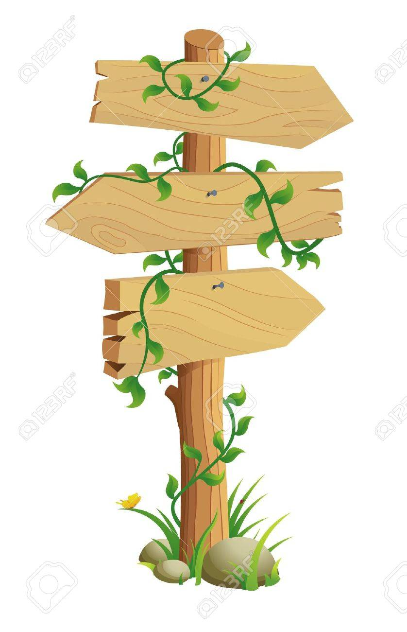 Wooden Direction Sign - 9264268