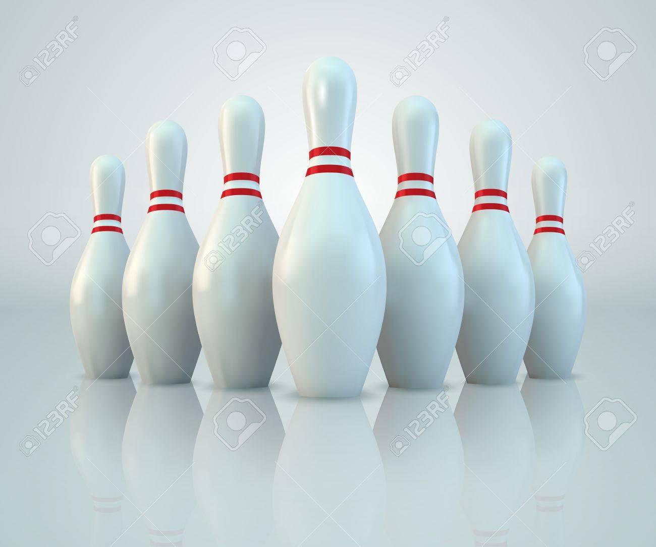 Vector Bowling Pins - 9481397