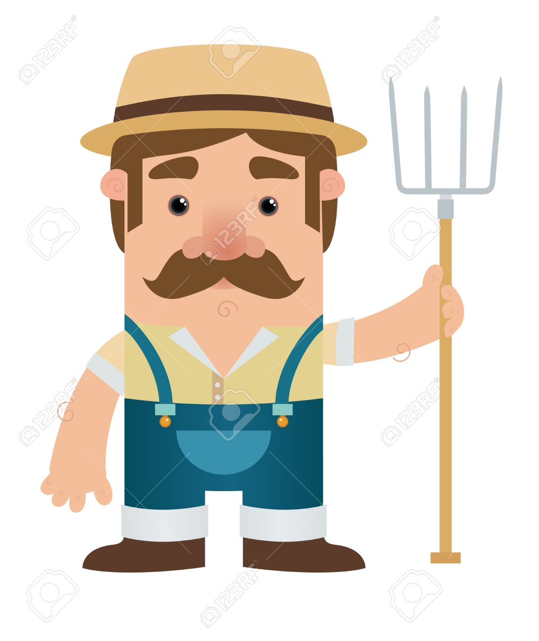 Cartoon Farmer Character - 9930109