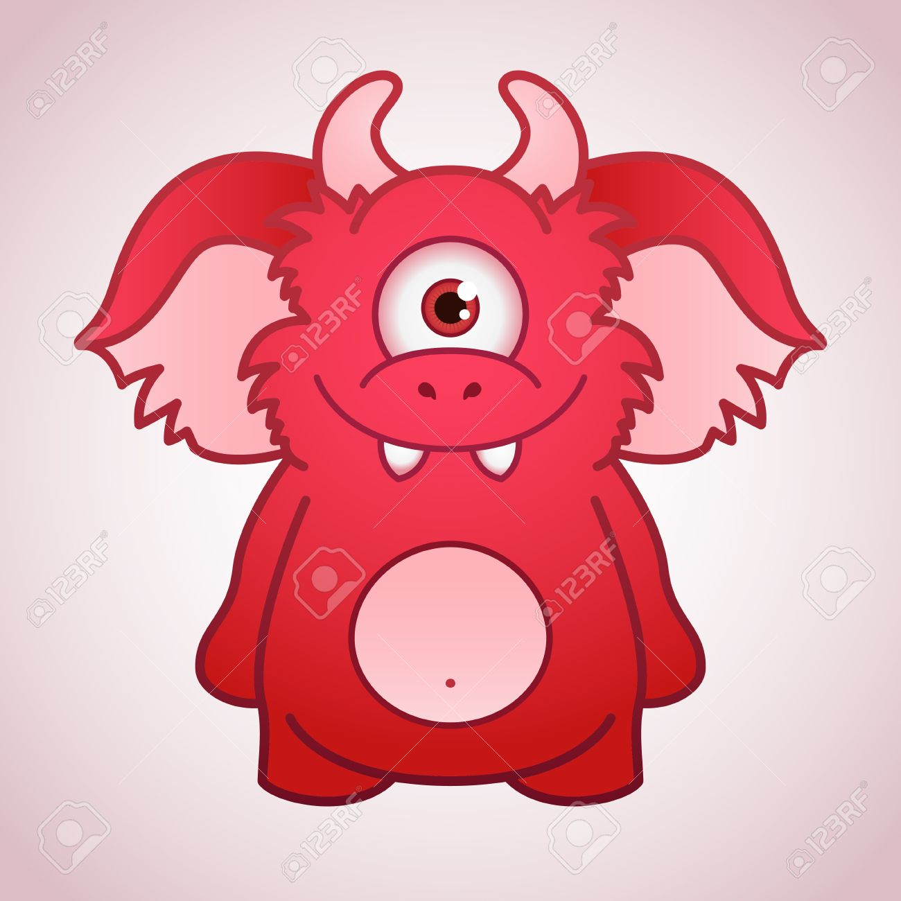 cute red monster royalty free cliparts vectors and stock
