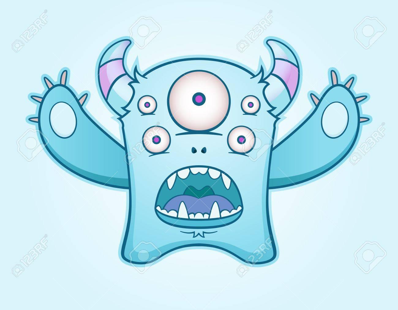Surprised Blue Monster - 10498767