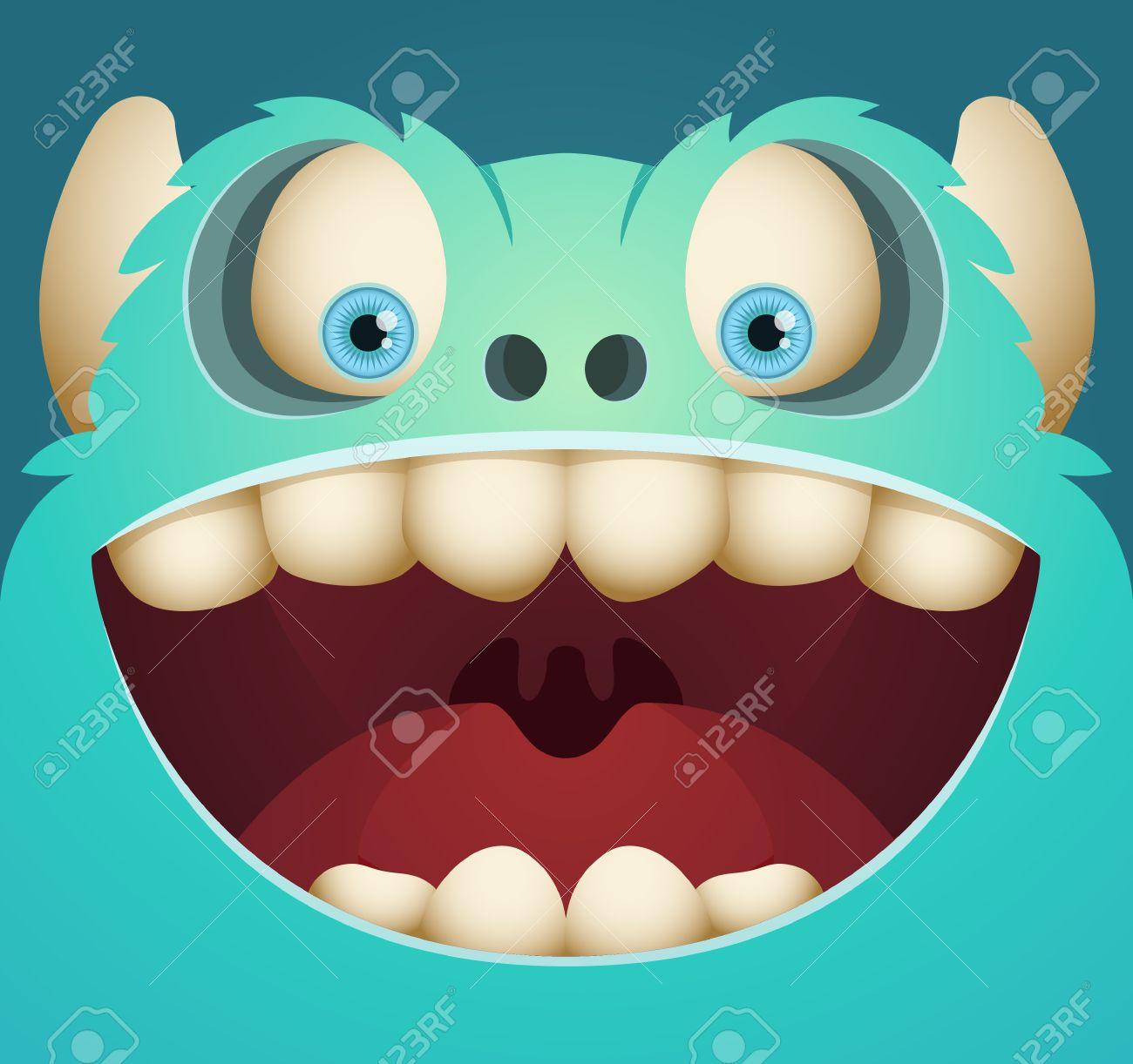 Cute Cartoon Monster - 12227454