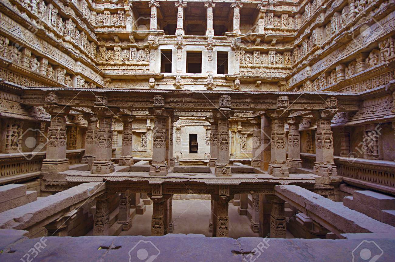 Inner view of Rani ki vav, an intricately constructed stepwell
