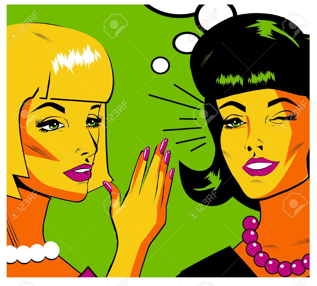 Gossiping Women - Retro Clip Art Royalty Free Cliparts, Vectors ...