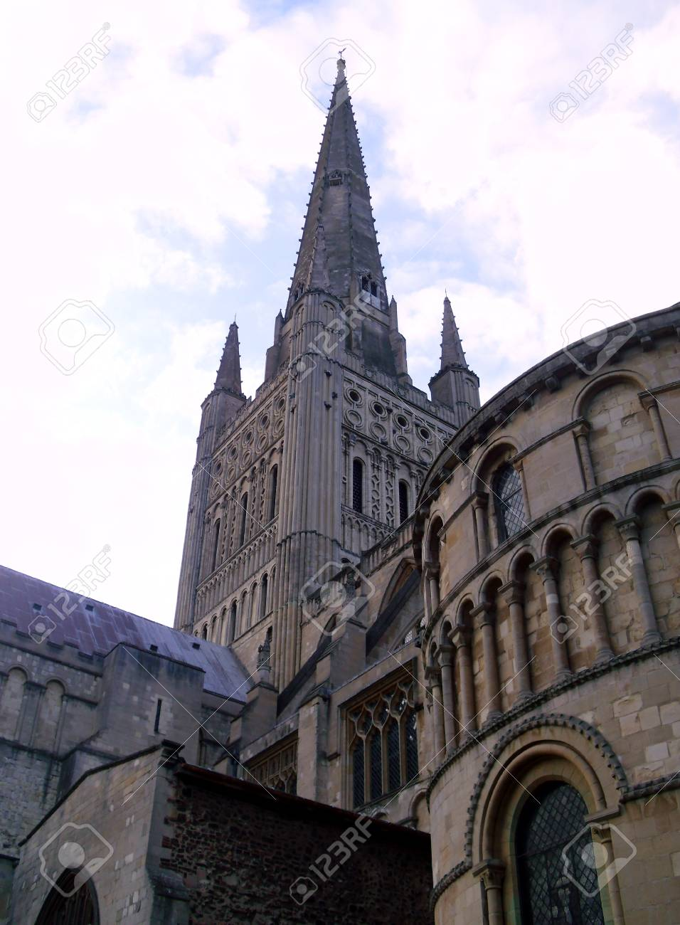 Norwich Cathedral Church of the Holy and Undivided Trinity Stock Photo - 78246426