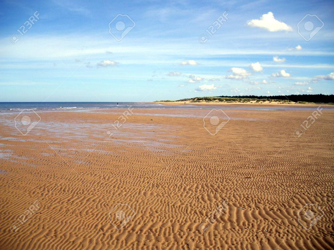 Rippled Sand at Holkham Beach in Norfolk Stock Photo - 78583601