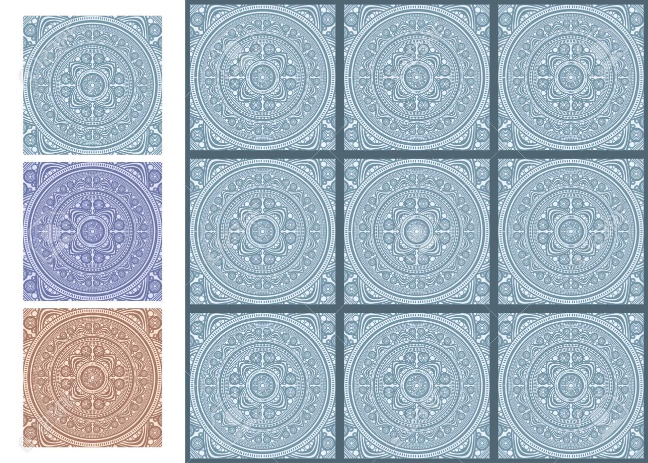 Vintage Keramik Mosaik Boden Fliesen Muster. Vorlage Für Design ...