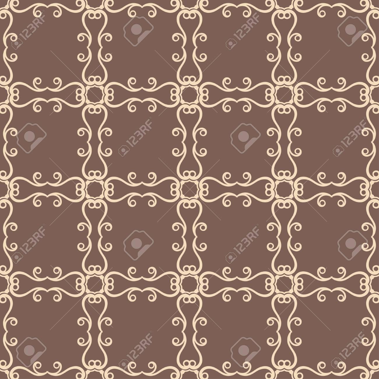 Carta Da Parati Tessuto modello senza cuciture ornamentale vintage. può essere utilizzato per carta  da imballaggio, carta da parati, tessuto, tessuto, tela cerata, piastrelle