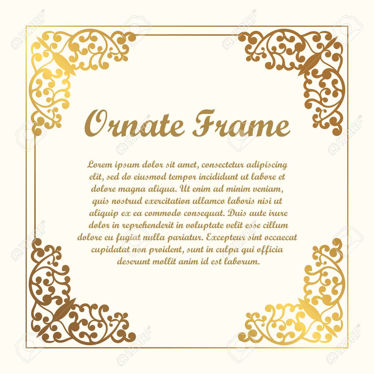 vector decorative element for design frame template with place