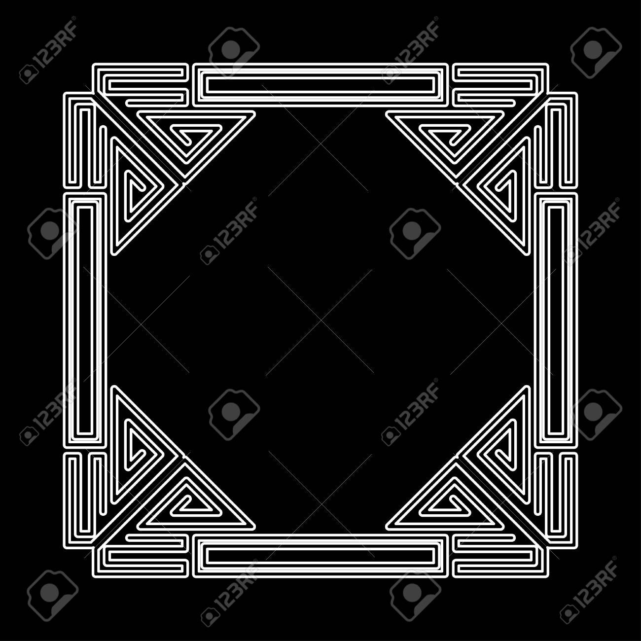 Art Deco Ornamental Vintage Frame. Template For Design. Vector ...
