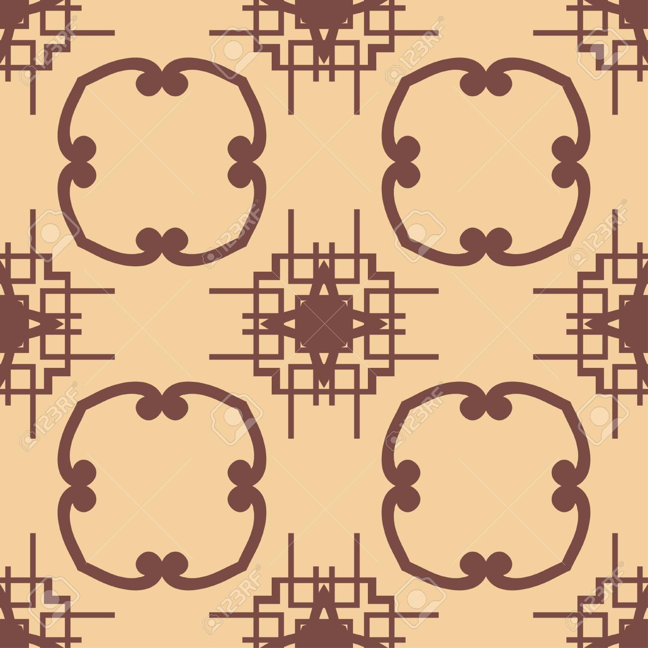Ornament Template   Vintage Ornamental Seamless Pattern Art Deco Ornament Template For