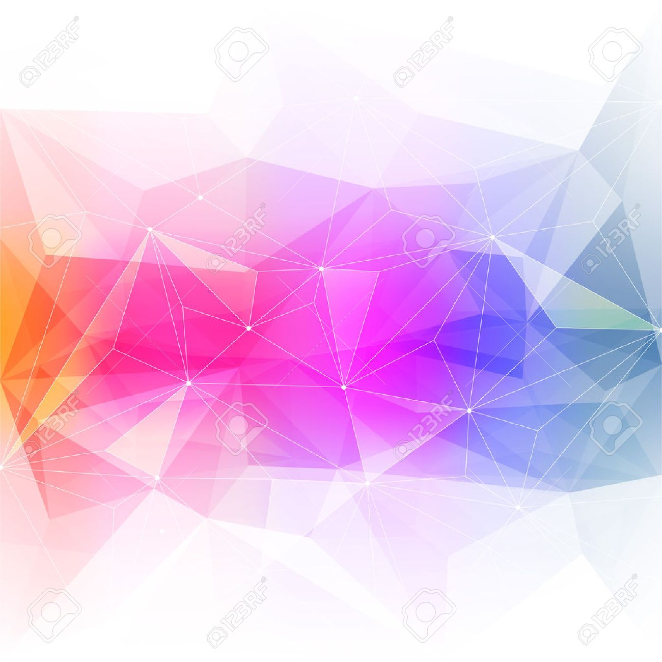Colorful abstract crystal background. Ice or jewel structure. Pink, Yellow and green bright colors. - 36617398