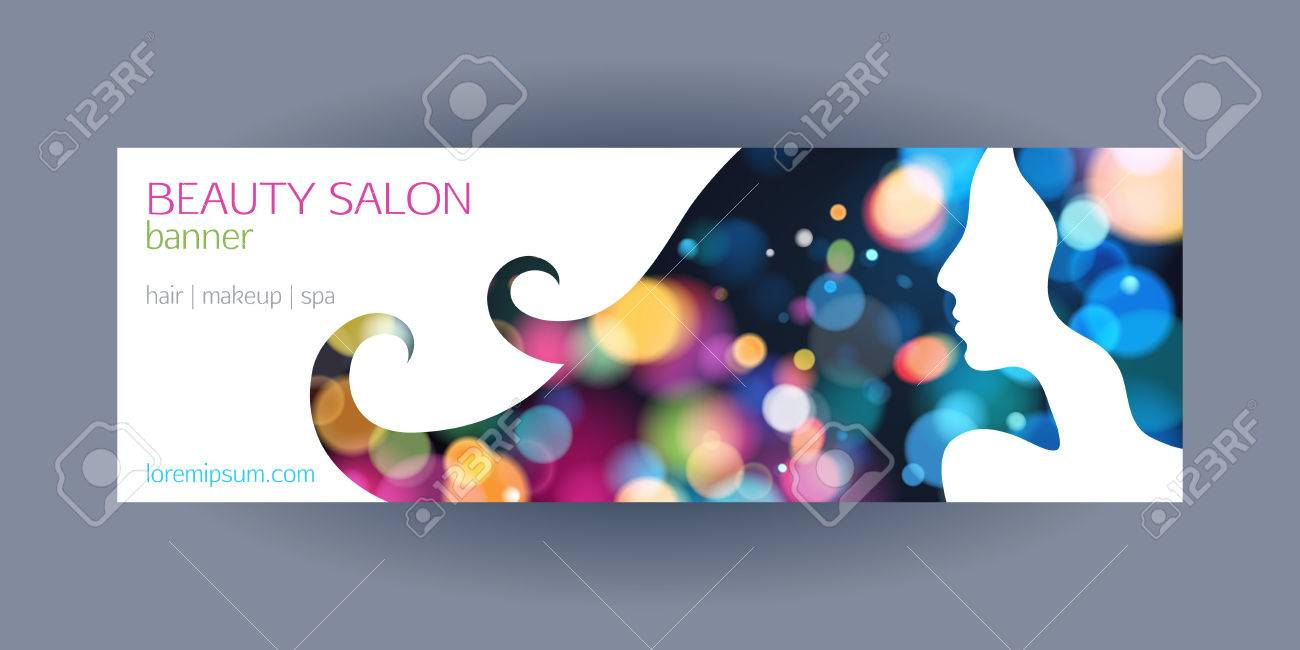 Beautiful Girl Spa Salon Banner Template Colorful Glow Bokeh Royalty Free Cliparts Vectors And Stock Illustration Image 37594463