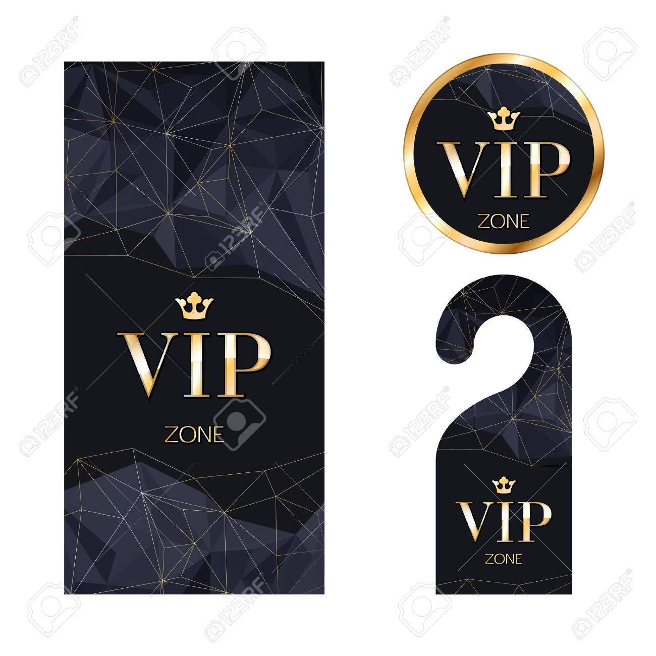 vip ゾーン メンバー プレミアム招待状カードは ハンガーと円形ラベル