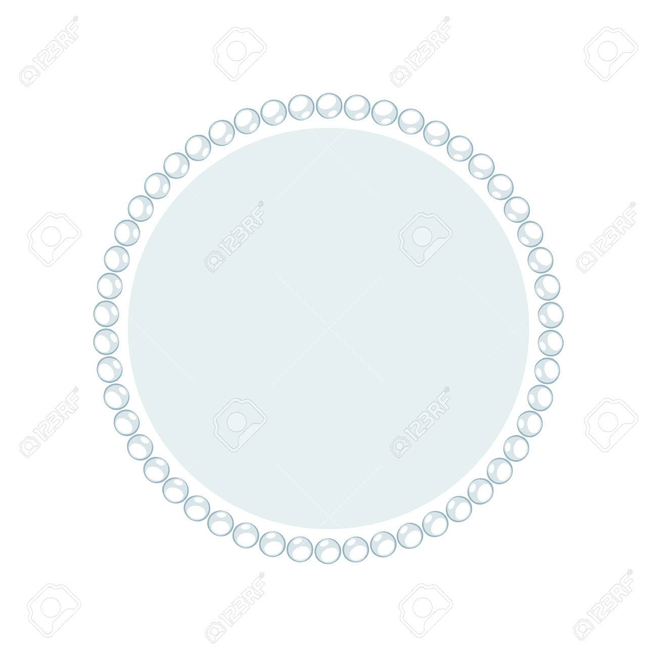 simple cartoon style round jewelry frame template good for greeting